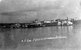 N.T. Co's Fleet at Athabasca Landing