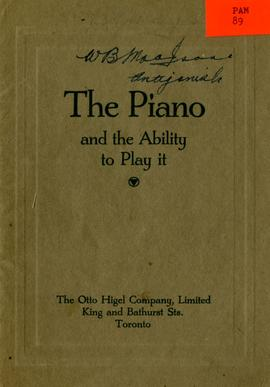 The Piano and the ability to play it