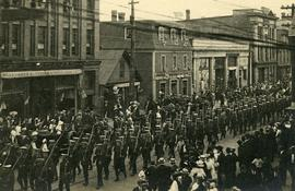 WW1 Military Parade on Charlotte Street, Sydney