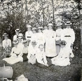 Temperance Picnic, Taken in Orchard of the J.J. Phillips farm, Horne's Road, Mira