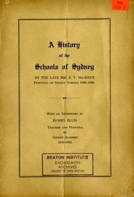 A History of the Schools of Sydney