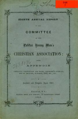 Eighth annual report of the committee of the Halifax Young Men's Christian Association: with appe...