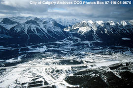 Aerial View of Canmore, Alberta