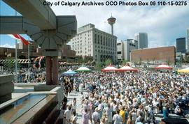 Official Opening of Olympic Plaza, Calgary, Alberta