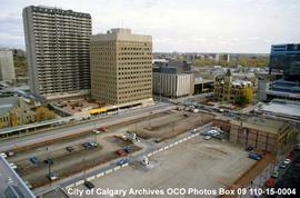 Site of Olympic Plaza Before Construction, Calgary, Alberta