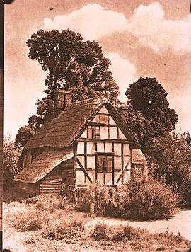 A Thatched Roof House.