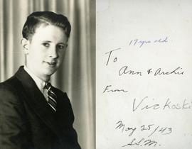 17 yrs old - To Ann & Archie from Vic Koski - May 25/43 S.S.M.