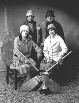 Ladies Curling Team with trophy