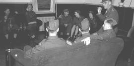 """Canteen Opening (Re-opening)"" at the Canadian Infantry Basic Training Center No. 133, ..."