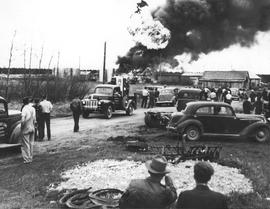 Imperial Oil - Station Fire, Edson, Alberta.