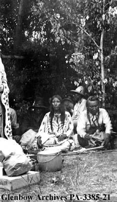 Mr. and Mrs. Water Chief, Blackfoot (Siksika) reserve, Alberta.