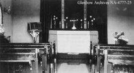 Interior of St. Mary's Church, Carlstadt (later Alderson), Alberta.