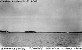 """Approaching Stanley Mission"", Saskatchewan."