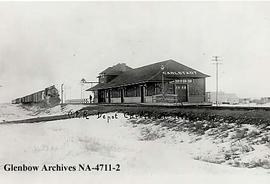 Canadian Pacific Railway station, Carlstadt (later Alderson), Alberta.