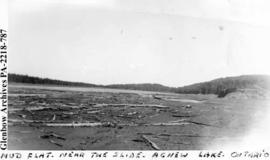 """Mud flat, near the slide, Agnew Lake, Ontario""."