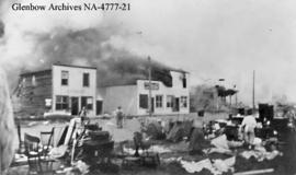 Disastrous fire at Alderson (formerly Carlstadt), Alberta.