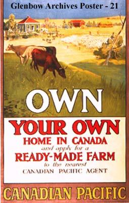 """Own Your Own Home in Canada. And apply for a Ready-Made Farm to the nearest Canadian Pacifi..."