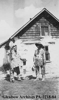 Peter Tomkins, Senior, and J. B. Totoosis, at Poundmaker's Reserve, Saskatchewan.