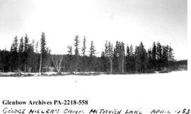 """George Miller's camp, McTavish Lake"", Saskatchewan."