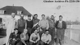 Northern Transportation Company employees at Fort Smith, Northwest Territories.