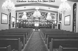 Interior of Greek Orthodox Church, Calgary, Alberta.
