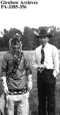 [Albert?] Cutter and Matthew Tallow, Blackfoot (Siksika) reserve, Alberta.