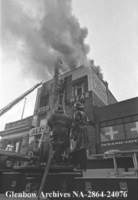 Fire at the Parisian ladies wear store, Calgary, Alberta.