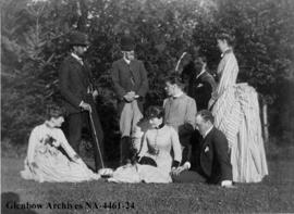 Mrs. W.F. Cochrane and friends.