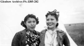 Margaret Crowfoot and Annie Royal, Blackfoot (Siksika) reserve, Alberta.