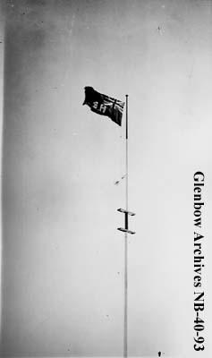 Hudson's Bay Company (HBC) flag, at Long Lake, Ontario post.