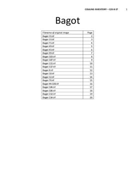 Bagot Street Architectural and Historical Inventory
