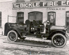 A Canadian National Parks fire truck, at the Bickle Fire Engine Factory.