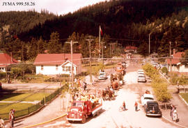 Rodeo Parade on Elm Street, Jasper, Alberta.