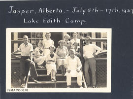 Lake Edith Camp Guests and Staff, Jasper National Park, Alberta, Canada