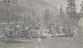 A campfire gathering.