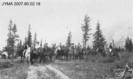 [Group on Horseback], Jasper National Park, Alberta