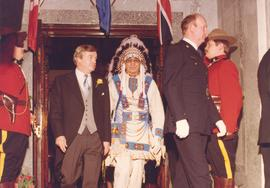 Peter Lougheed and native leader