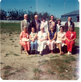 Some of Dorothy Wotherspoon's classmates from 1930 at the Millet School reunion of July 1977.