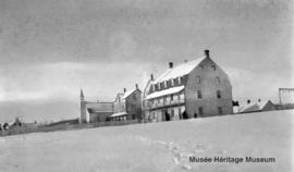 Onion Lake old mission with the church and 2nd residential school, *Saskatchewan.