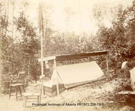 First Nations burial structure at Shoal Lake, Ontario