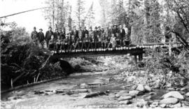 Helmer Johnson's Crew, Canyon Creek, Monkman Pass Highway