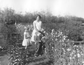 Mrs. Trelle And Children In The Garden