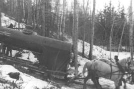 Horses Pulling Boiler On The Edson Trail