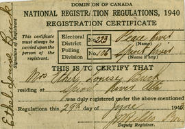 Ethel Buck's Registration Certificate