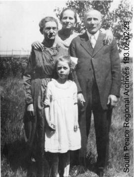 Zimmerman family and Beatrice Burdick.