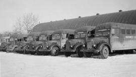 Fleet of Northwest Service Command U.S.A. Busses