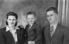 Stella and Bernard Tissington with son Fred