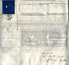 Probate Document Attached to 1820 Will of John Davis.