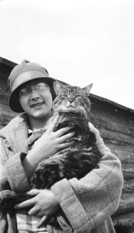 Myrle Campbell and Her Cat