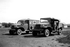 Alaska Highway Crew Ambulance & Jeep, Ft. St. John